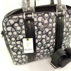 NWT Robert Graham Rex Skull Laptop Bag